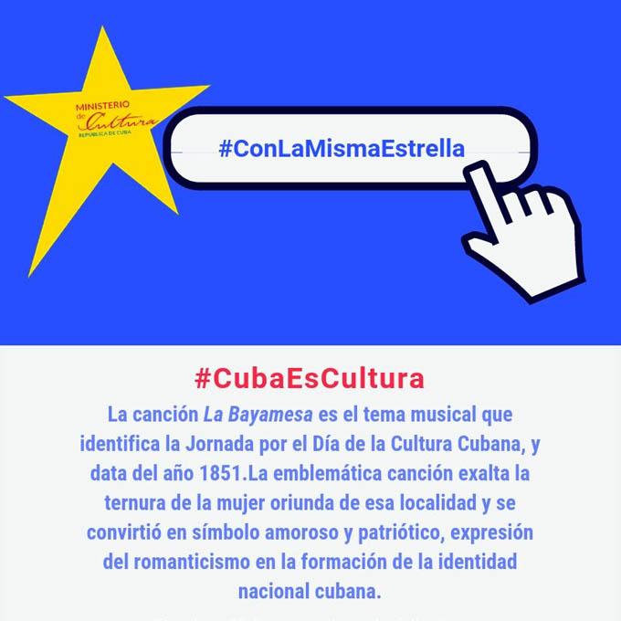 Resaltan mediante Twitter historia del Día de la Cultura Cubana