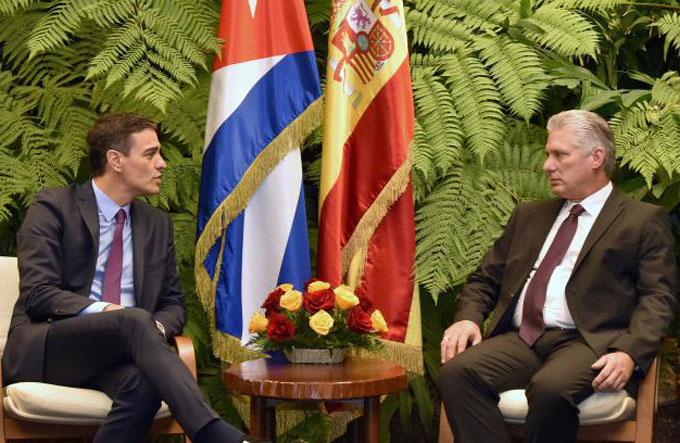Pedro Sánchez: España pretende profundizar relaciones económicas con Cuba