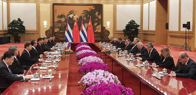 China mantendrá invariable sus nexos fraternales con Cuba