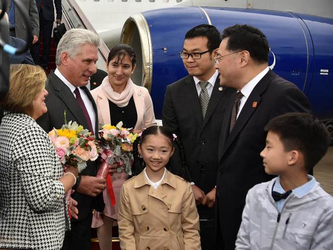 Presidente cubano llega a China