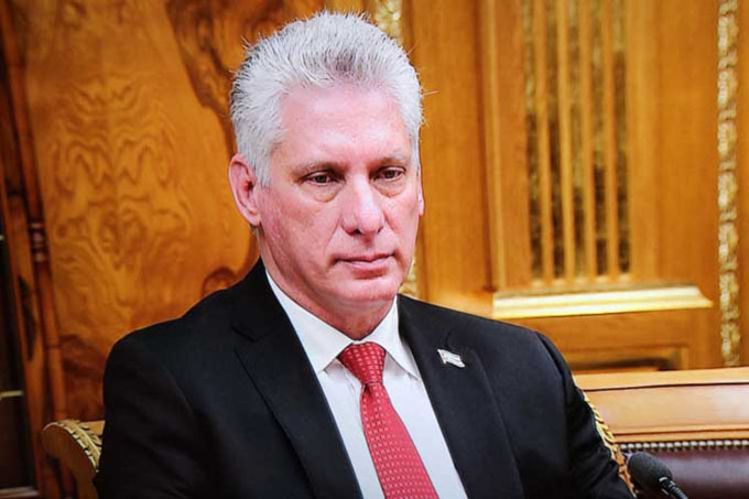 Rusia y Cuba condenan política de sanciones, afirma Díaz-Canel