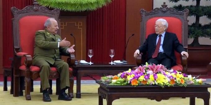 Recibe presidente de Vietnam a ministro de Fuerzas Armadas de Cuba (+ video)