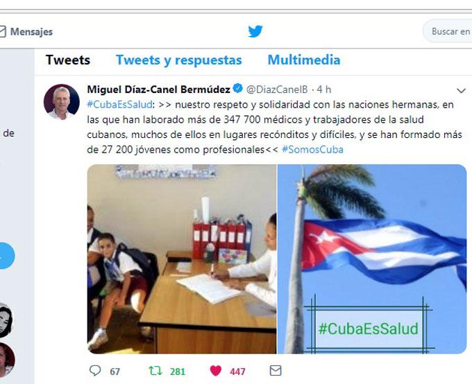 Resalta Díaz-Canel logros en salud infantil y colaboración médica