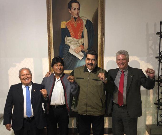 Díaz-Canel destaca valentía de presidente venezolano
