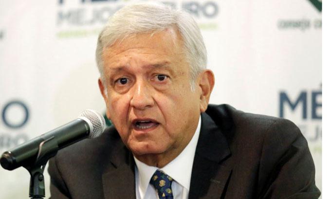 López Obrador pide paz y tranquilidad para México