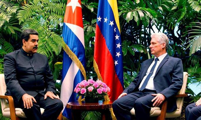 Presidente cubano reitera apoyo al gobierno y pueblo de Venezuela
