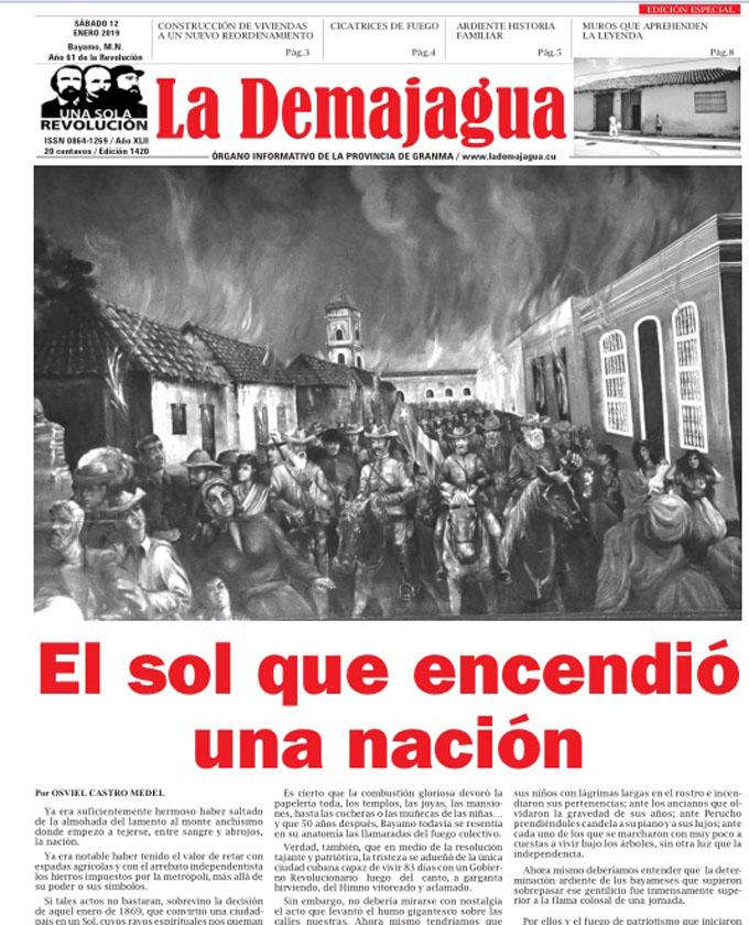 Edición impresa 1420, del semanario La Demajagua, sábado 12 de enero 2019