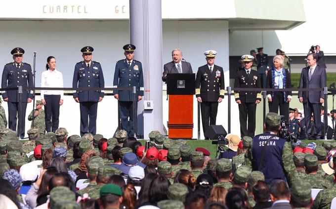 Ratifica Ejército apoyo a gobierno de Andrés Manuel López Obrador