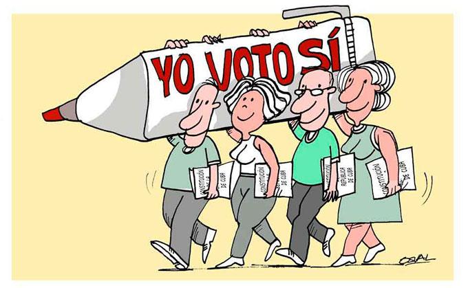 Votación de la Constitución, trascendental momento patriótico (+ audio)