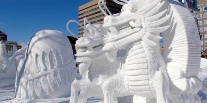 Comienza festival japonés de hielo y nieve