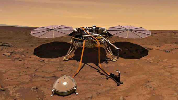 Perfora misión InSight en el subsuelo del planeta Marte