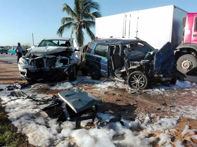 Sancti Spíritus: Un fallecido y cuatro lesionados en accidente de tránsito en Jatibonico (+ fotos)