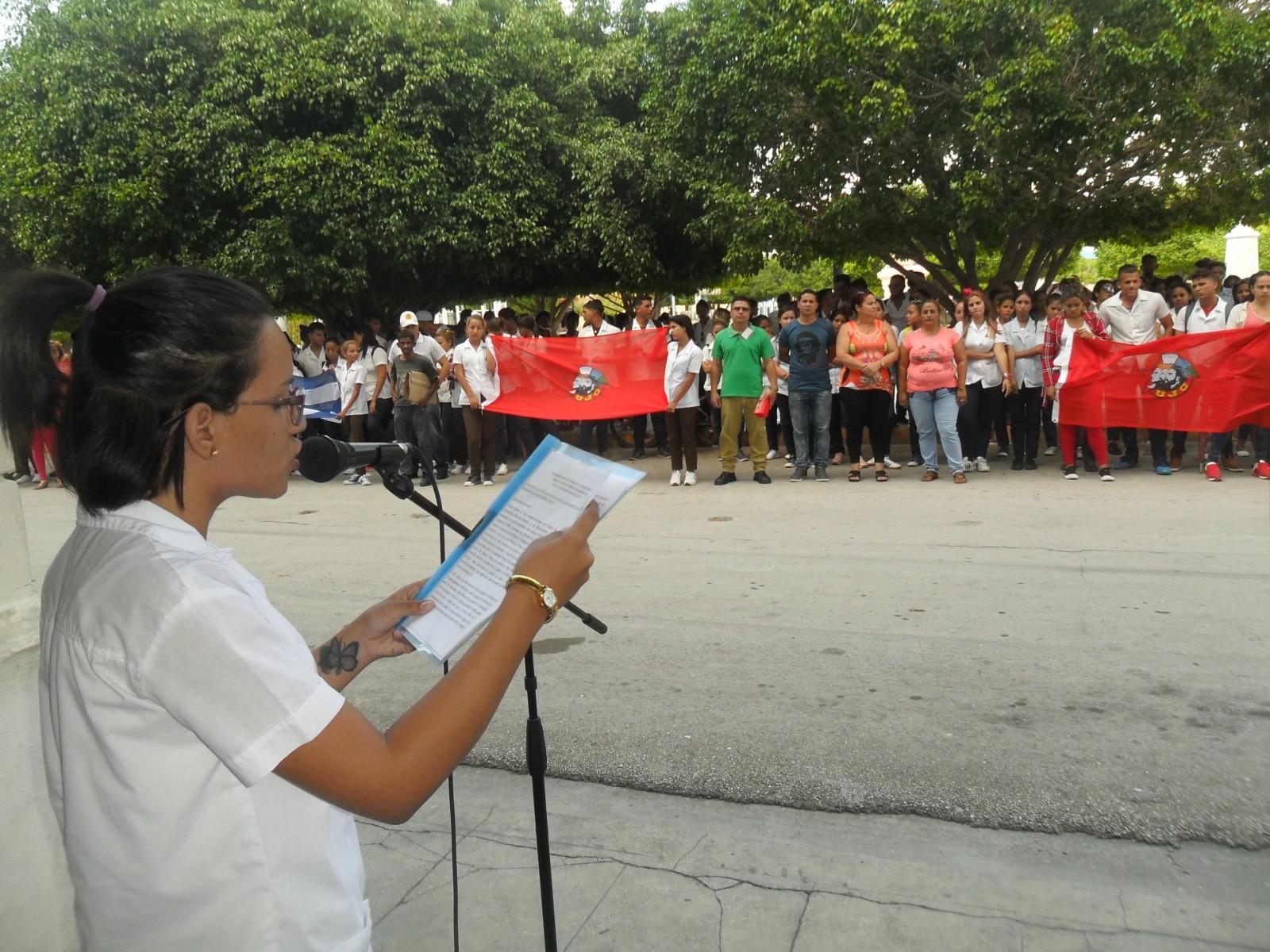 Recuerdan jóvenes manzanilleros acciones del 13 de marzo