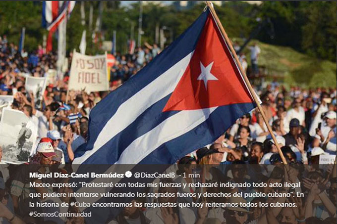 Díaz-Canel: No habrá ley que devuelva a Cuba a la esclavitud