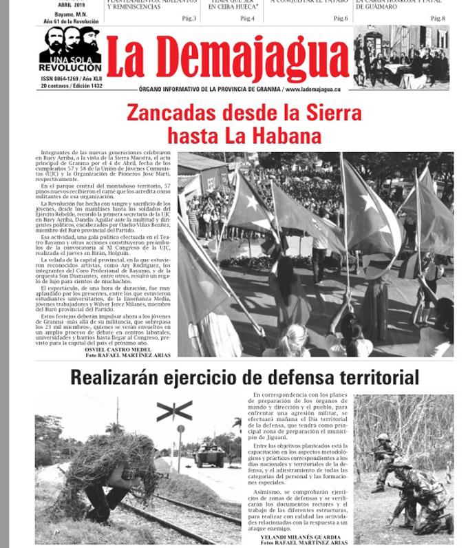 Edición impresa 1432, del semanario La Demajagua, sábado 6 de abril 2019