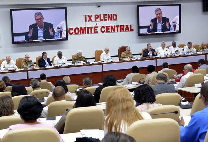 Sesionó IX Pleno del Comité Central del Partido Comunista