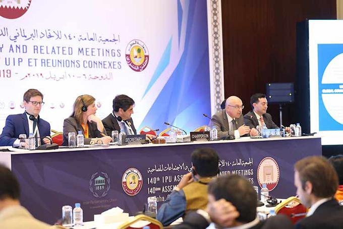 Paz mundial centra debates en reunión interparlamentaria