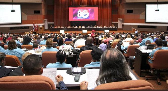 Díaz-Canel asiste a congreso de trabajadores cubanos (+fotos)