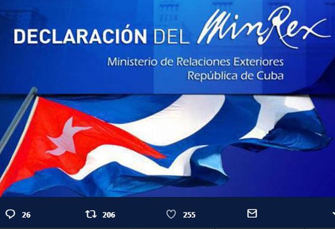 Cuba llama al mundo a frenar agresividad de EE.UU.