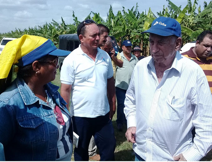Constata Machado Ventura ritmo productivo en Cauto Cristo (+ video)