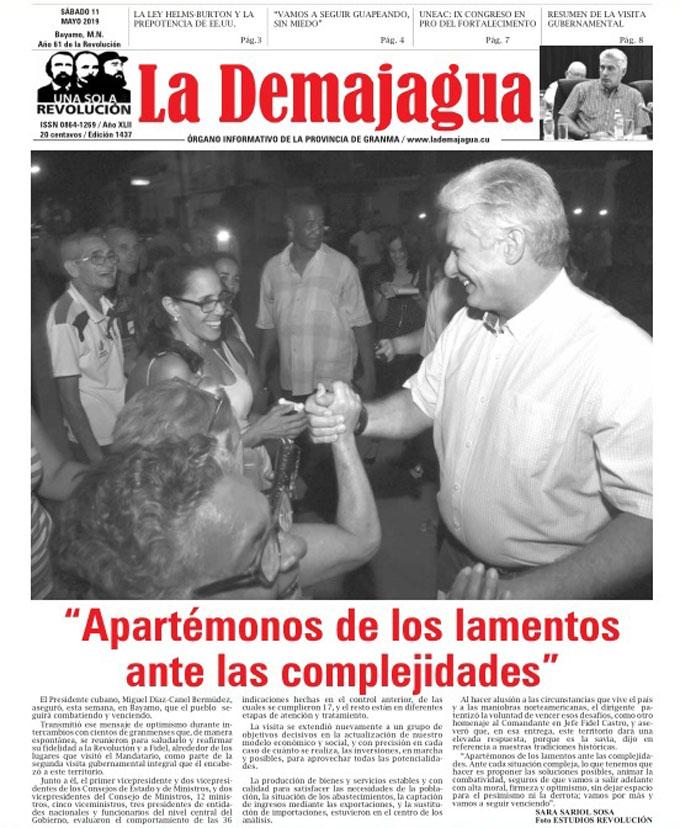 Edición impresa 1437, del semanario La Demajagua, sábado 11 de mayo 2019