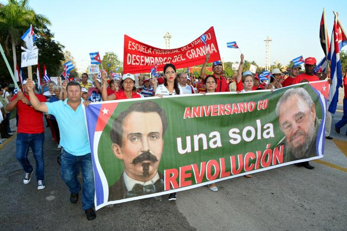 Multitudinario desfile en Bayamo por el 1 de Mayo (+ fotos y videos)