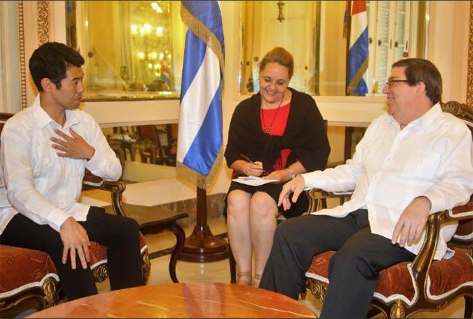 Canciller cubano recibe viceministro de Asuntos Exteriores de Japón