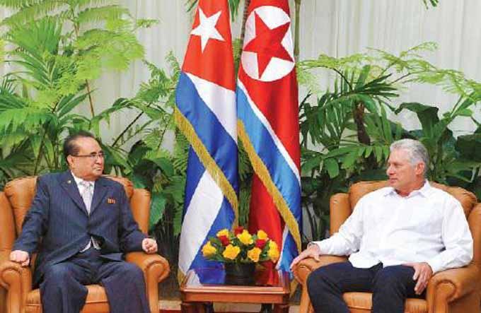 Recibió Díaz-Canel al Vicepresidente del Comité Central del Partido del Trabajo de Corea