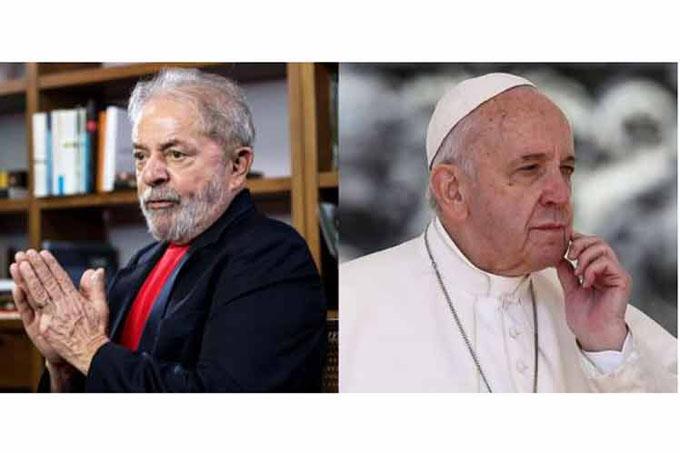 El bien vencerá al mal, escribió el papa Francisco en carta a Lula (+video)