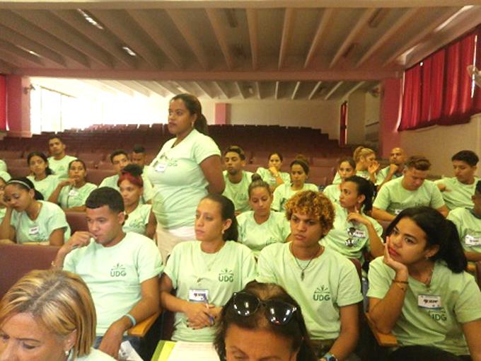 Realizan asamblea XI Congreso juvenil en el campus Blas Roca