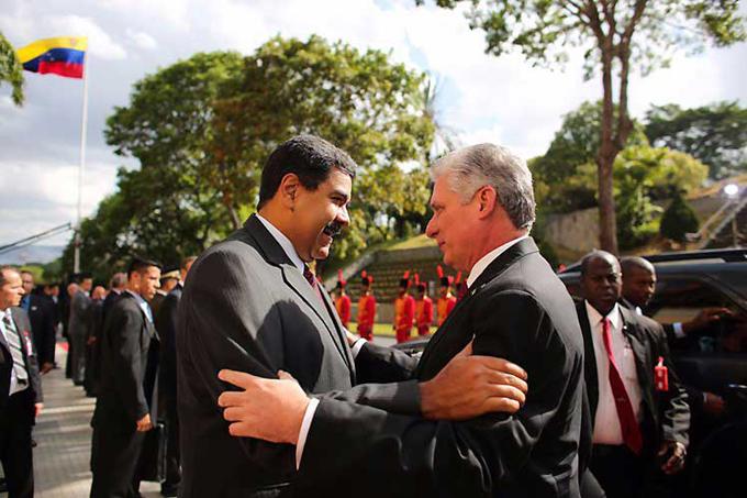 Venezuela siempre puede contar con Cuba, afirma Díaz-Canel