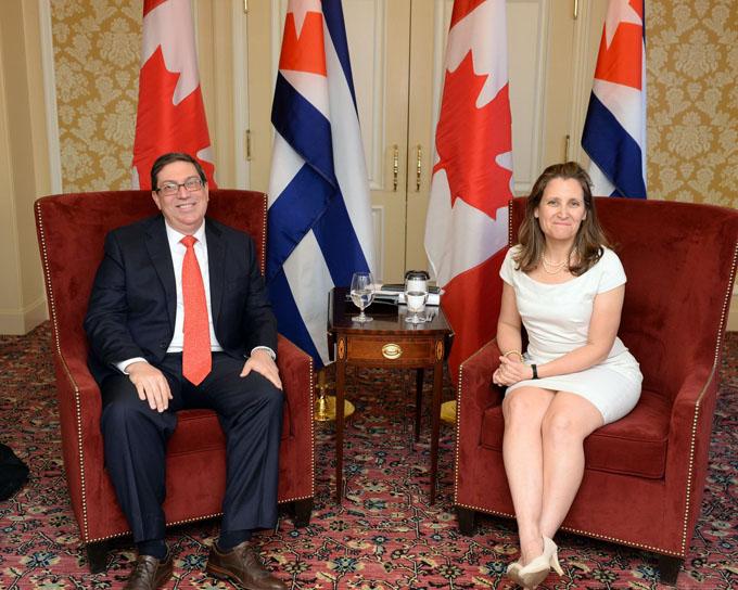 Sostienen encuentro cancilleres de Cuba y Canadá