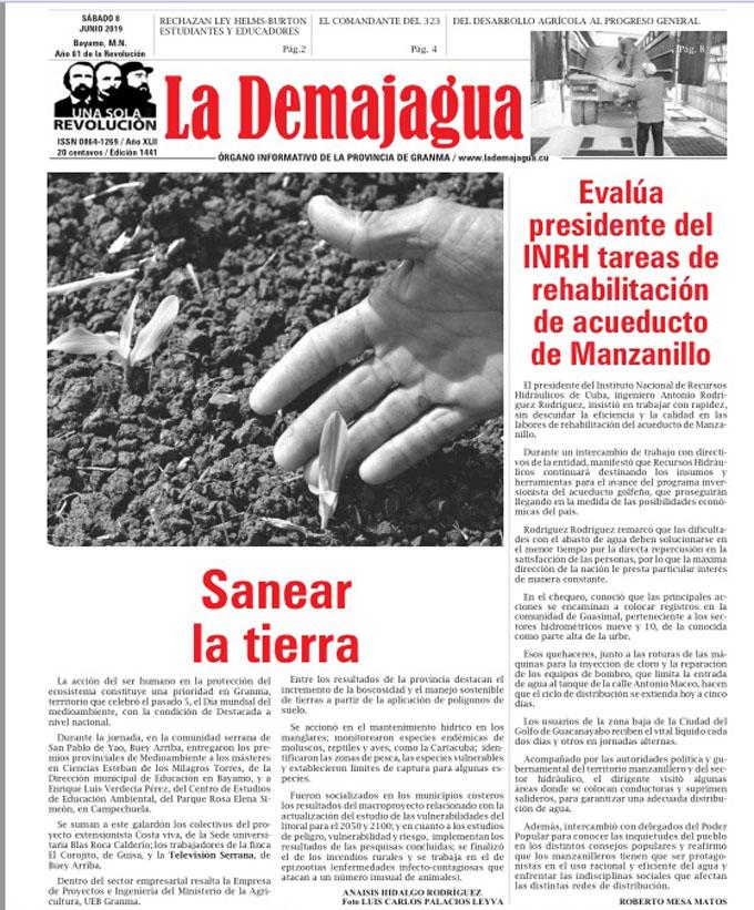 Edición impresa 1441, del semanario La Demajagua, sábado 8 de junio 2019