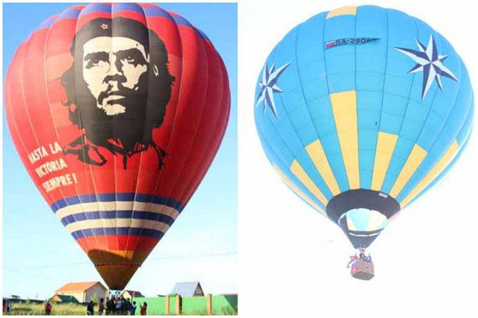 Dedican vuelo aerostático en Rusia a Ché y Prensa Latina (+Fotos)
