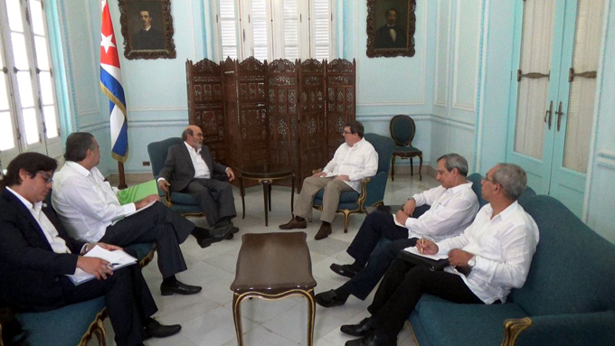 Recibe canciller de Cuba a director general de la FAO
