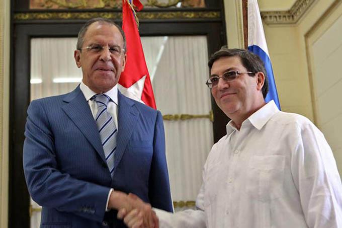 Canciller cubano recibe a su homólogo de Rusia