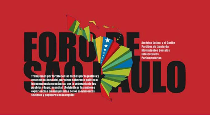 Foro de Sao Paulo exigirá respeto a la soberanía de los pueblos