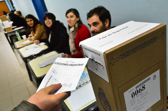 Elecciones argentinas en movimiento