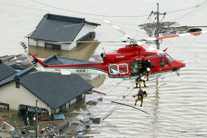 Fuertes lluvias en Japón causan deslaves y dos víctimas fatales