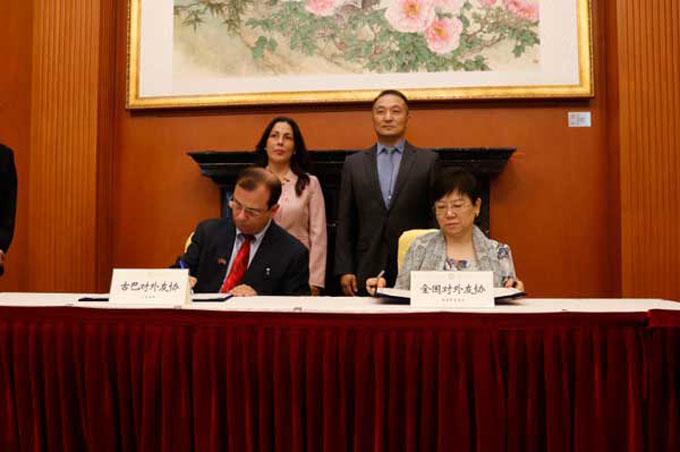 Firman Cuba y China acuerdo para fortalecer amistad