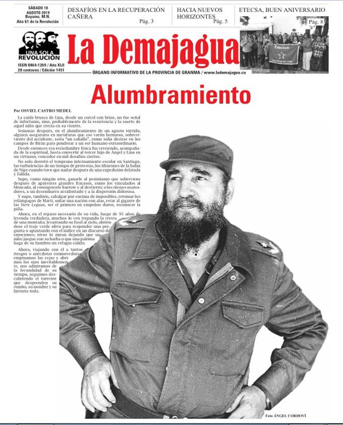 Edición impresa 1451, del semanario La Demajagua, sábado 10 de agosto de 2019