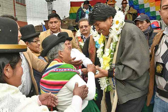 Debatimos con el pueblo y no con opositores, afirmó Evo Morales