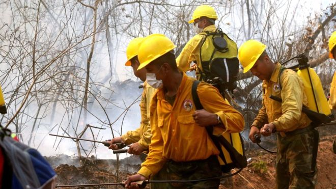 Continúan en Bolivia acciones ante daños por los incendios forestales