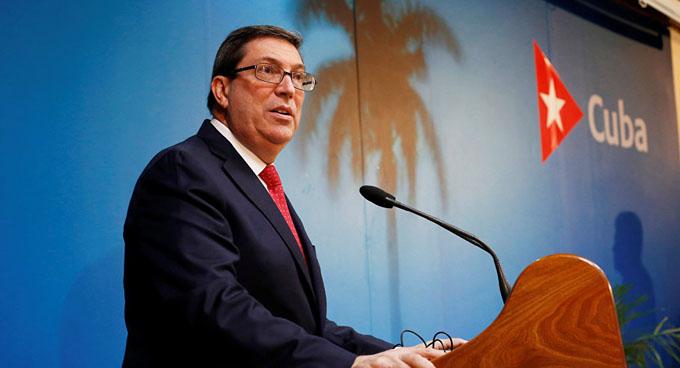 Canciller de Cuba condena expulsión de diplomáticos de misión en ONU