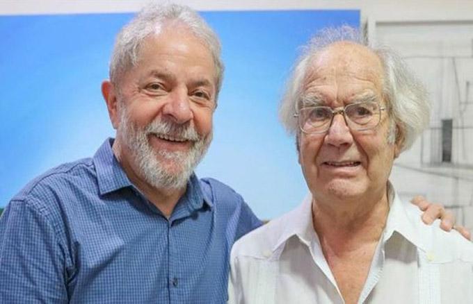 Lula recibe visita de Adolfo Pérez Esquivel, Premio Nobel de la Paz