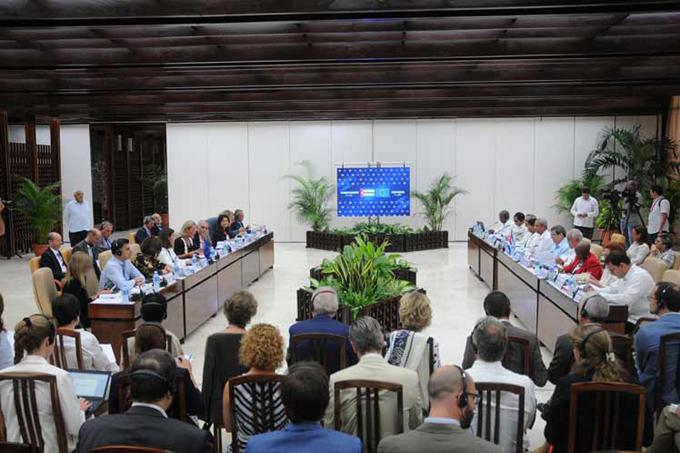 Cuba-UE toman nota para una relación satisfactoria (+ fotos)