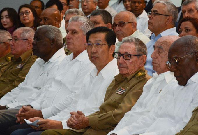 En presencia de Raúl, Cuba celebra el aniversario 70 del triunfo de la Revolución China