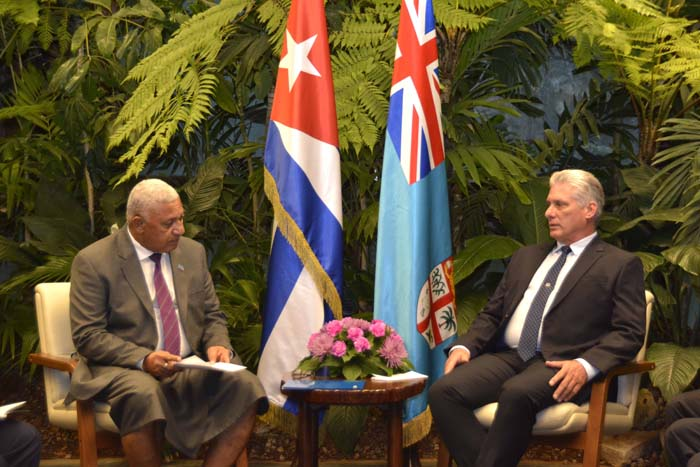 Recibe Díaz-Canel al Primer Ministro de Fiji