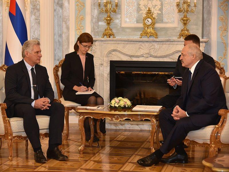 Díaz-Canel y Lukashenko, un encuentro entre amigos