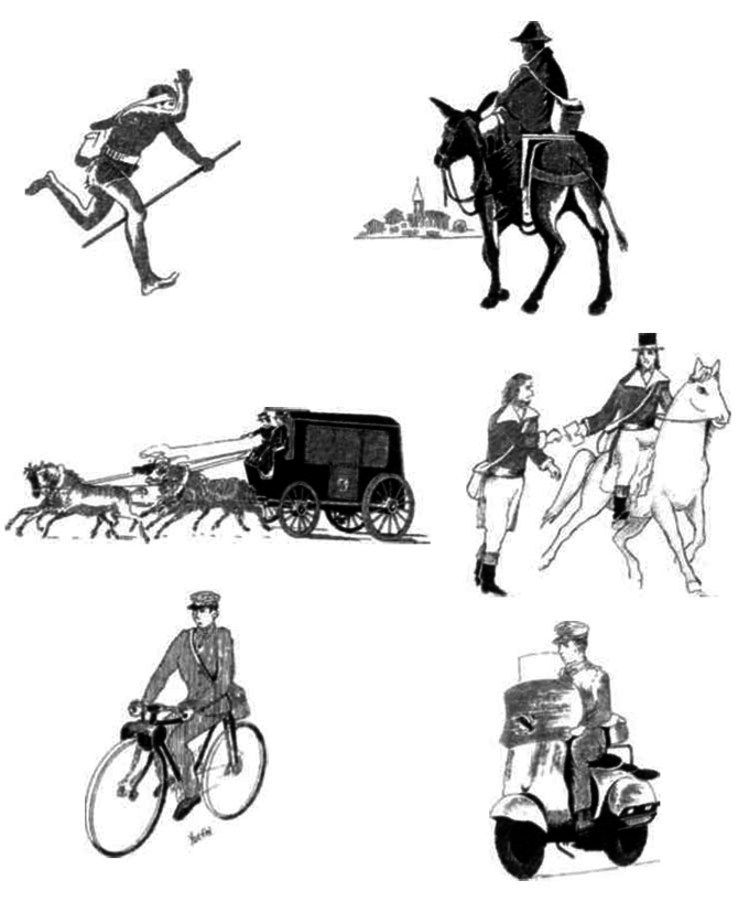 Del correo a caballo a la computadora